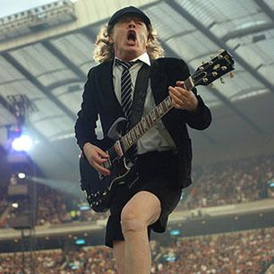 AC/DC's Angus Young specializes in the sort of filthy solos that first made people characterize the blues as the devil's music.