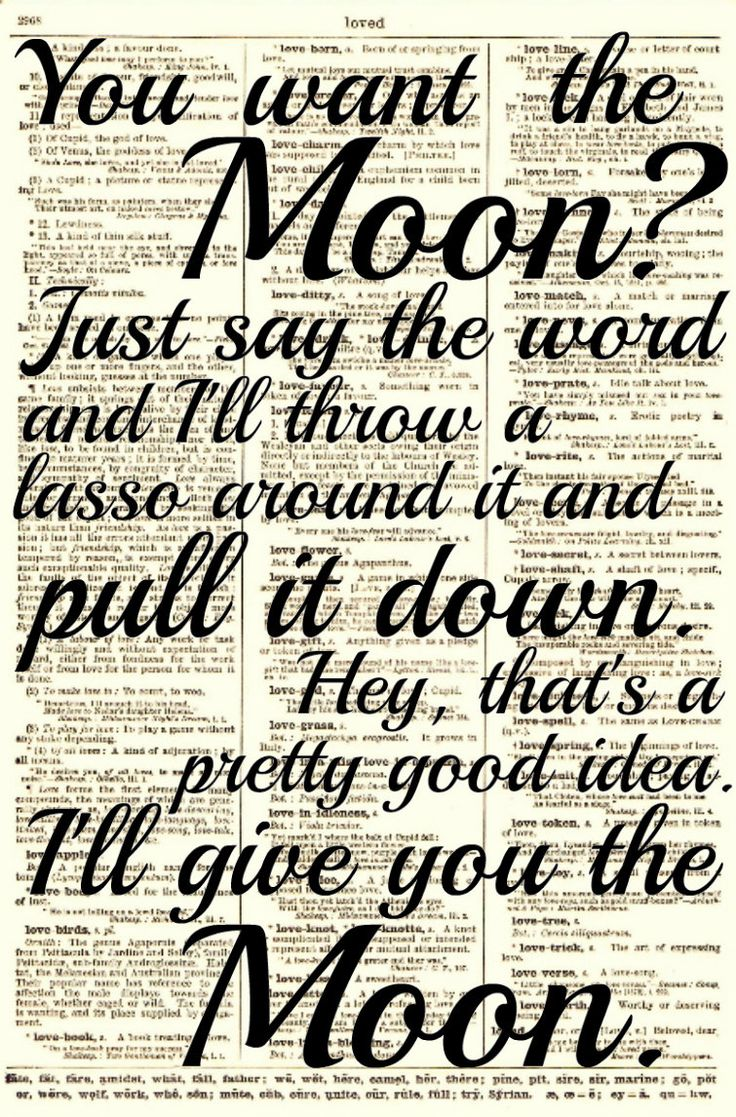 Lasso The Moon It 39 S A Wonderful Life Quote Printed On An Upcycled 1897 Dictionary Page Art