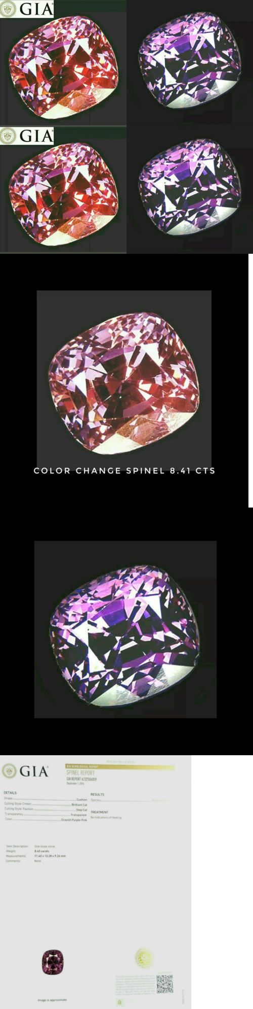 Spinel 110873: Gia 8.41 Ct Color Change Spinel Cushion From Tanzania Tundru,Check Video -> BUY IT NOW ONLY: $5700 on eBay!