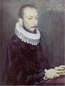 Carlo Gesualdo -1560-1613 -late Renaissance prince and composer of exquisite and complex polyphony. He is equally well known as the murderer of his wife and her lover. The poor tormented man spent the rest of his life composing esoteric music and being whipped by a servant as he prayed.