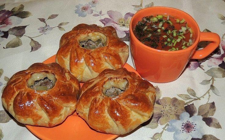 Фото к рецепту: Вак балиш (маленькие пироги с мясом и ...