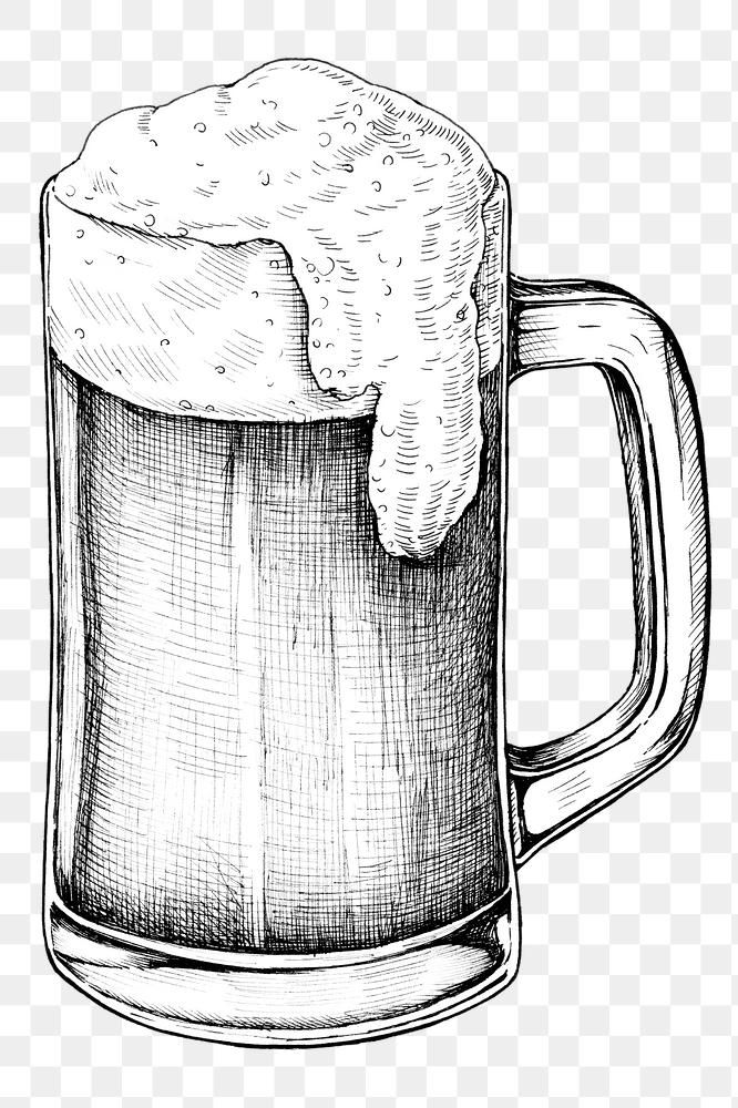Black And White Beer Png Transparent Premium Image By Rawpixel Com Noon Beer Drawing Beer Black And White