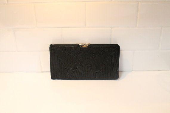 Black Clutch Purse, Evening Bag, Black Purse, Evening Clutch by clockworkrummage. Explore more products on http://clockworkrummage.etsy.com