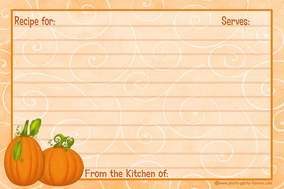 Free Recipe Card Templates |   Recipe Cards - Free Printable 4 X