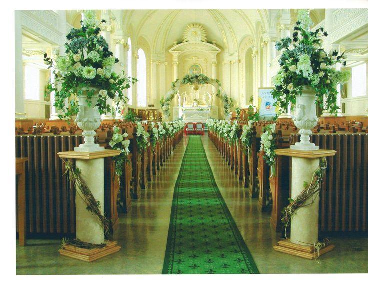 Décoration de mariage, église, mariage, fleurs, Le jardin d'Andrée-Anne, www.lejardin.ca