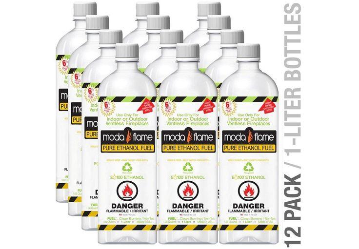 Moda Flame 12QTF Fuel 12 Liter Bio-fuel Ethanol Fuel 12 Bottles