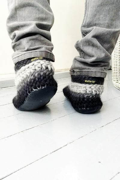 MuffleUp Slippers Men: Charcoal Fade