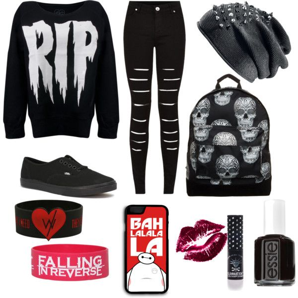 Untitled #24 by ronnieradkemine on Polyvore featuring polyvore fashion style Vans Mi-Pac Samsung Manic Panic Essie