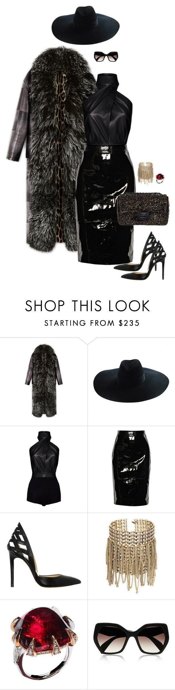 """Sans titre #87"" by jennissa-omaly ❤ liked on Polyvore featuring Yves Saint Laurent, Magda Butrym, Givenchy, Alejandro Ingelmo, Ellen Arthur, Chanel and Prada"