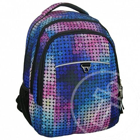 Jetbag mozaik tinédzser iskolatáska, hátizsák