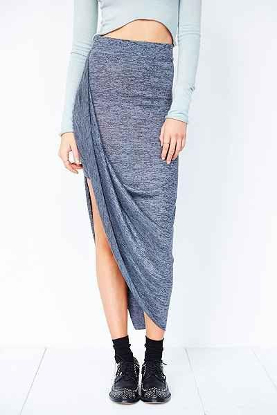 Silence + Noise Marled Asymmetrical Midi Skirt - Urban Outfitters