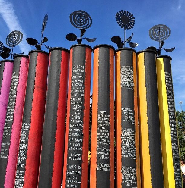 Carol's ArtPrize 2014 entry titled Color Out the Darkness. On display for three weeks in downtown Grand Rapids, Michigan.
