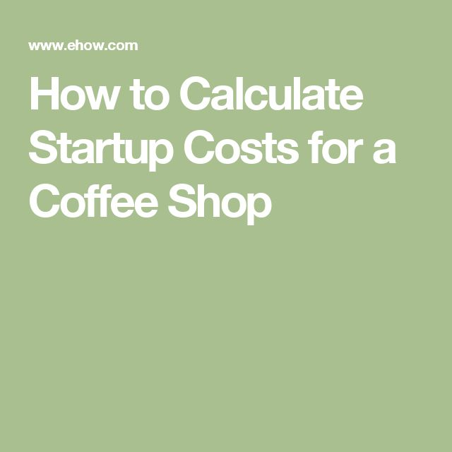 How to Calculate Startup Costs for a Coffee Shop