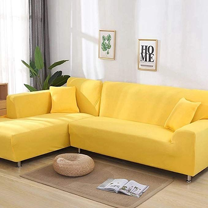 2pcs Sofa Covers For L Shape Furniture Case Universal Stretch Fabric Solid Color Corner Couch Elastic Home Corner Sofa Covers Sofa Covers Sectional Sofa Couch