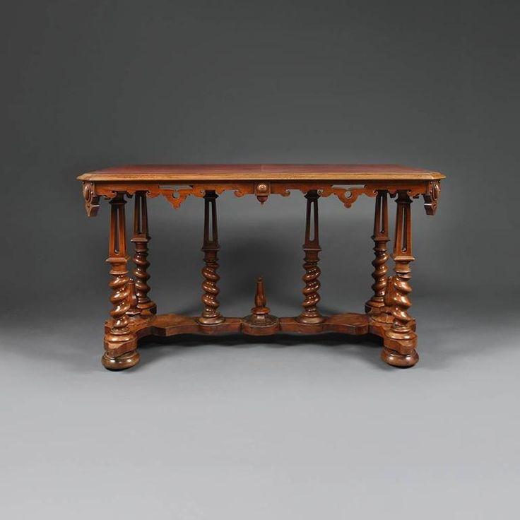 Late 19th Century Walnut Gothic Writing Desk 2