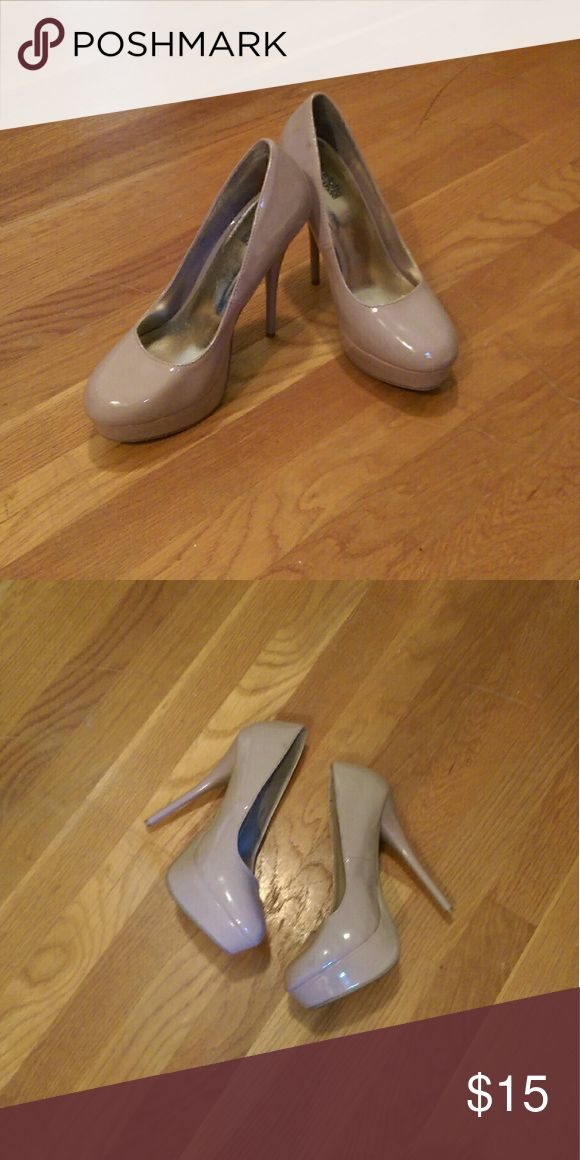 Charlotte Russe Heels Nude, size 8 Charlotte Russe heels. Worn a few times. Did not come with a box. Charlotte Russe Shoes Heels