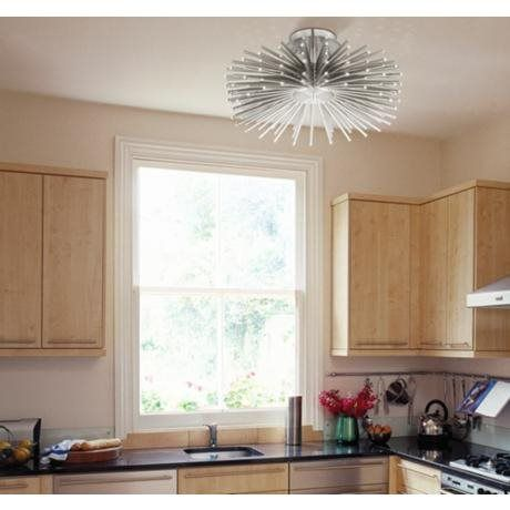 Possini LED Ceiling Light In A Small Kitchen · Flush Mount LightingSemi ...