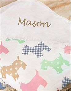 Personalised Gifts - Baby: Personalised Puppy Print Picnic Blanket!