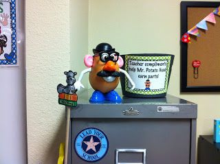 Spectacular 2nd Grade: Cute idea for compliments from another adult, add a piece to mr potato head, when he's complete, they get a reward!