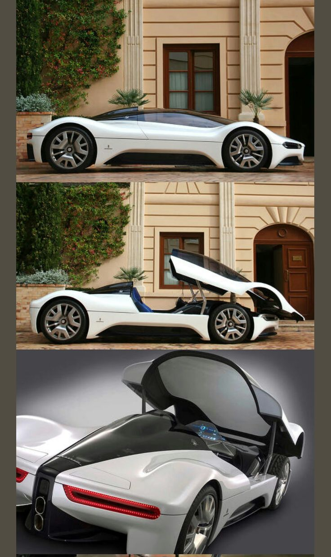 2005 Maserati Birdcage 75th Pininfarina Concept #maserativintagecars