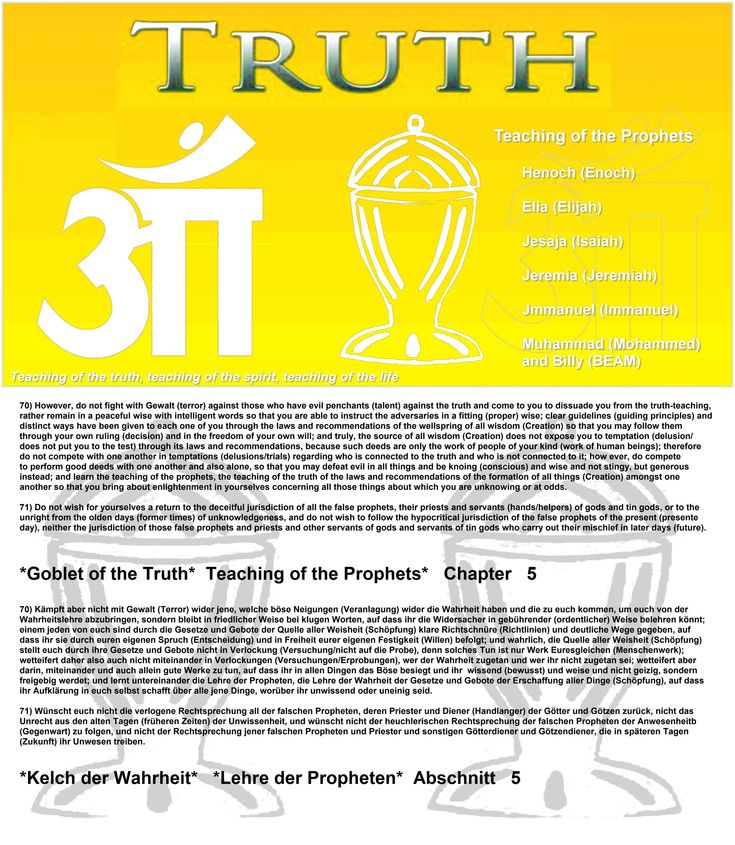 71) Do not wish for yourselves a return to the deceitful jurisdiction of all the false prophets, their priests and servants (hands/helpers) of gods and tin gods, or to the unright from the olden days (former times) of unknowledgeness, and do not wish to follow the hypocritical jurisdiction of the false prophets