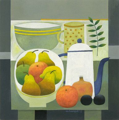 Still Life with Coffee Pot by Reg Cartwright