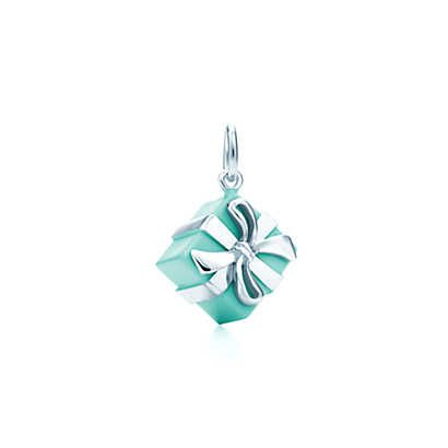 Tiffany Blue Box charm in sterling silver with Tiffany Blue enamel finish. | Tiffany & Co. £215