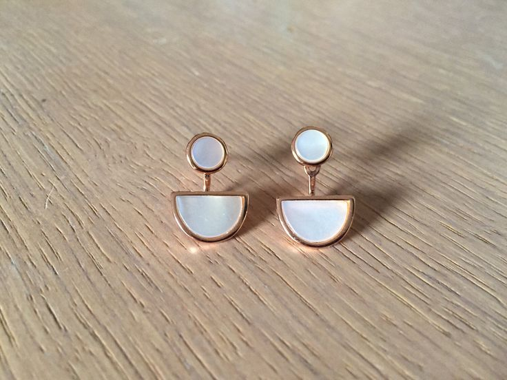 Excited to share the latest addition to my #etsy shop: Circle ear jacket half circle earrings geometric ear jacket circle mother of pearl statement front back earring jackets double sided earring #earrings #jewelry #silver #circleearjacket #circleearrings #geometricearjacket #halfcircleearrings #rosegoldcircleear #semicircleearrings