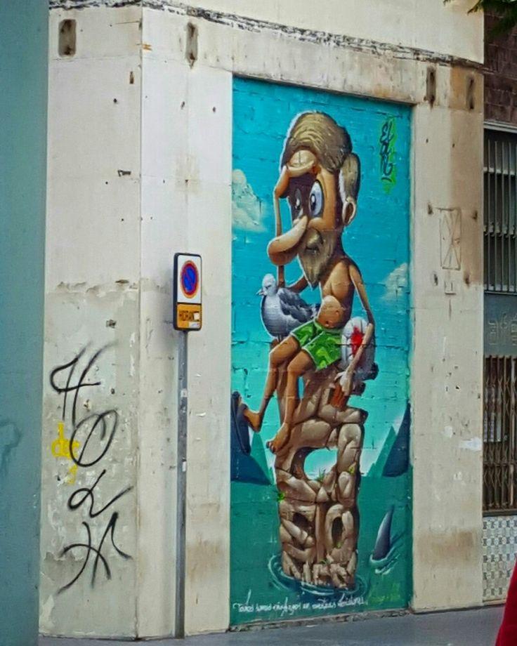 StreetArt,  Malaga, Costa del Sol, Andalucia, Spain