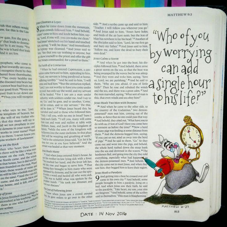 Bev Knaup bible journaling Matthew 6:27