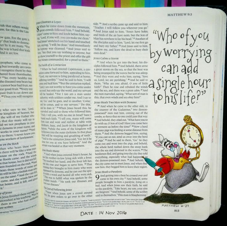 Bev Knaup bible journaling Matthew 6:27