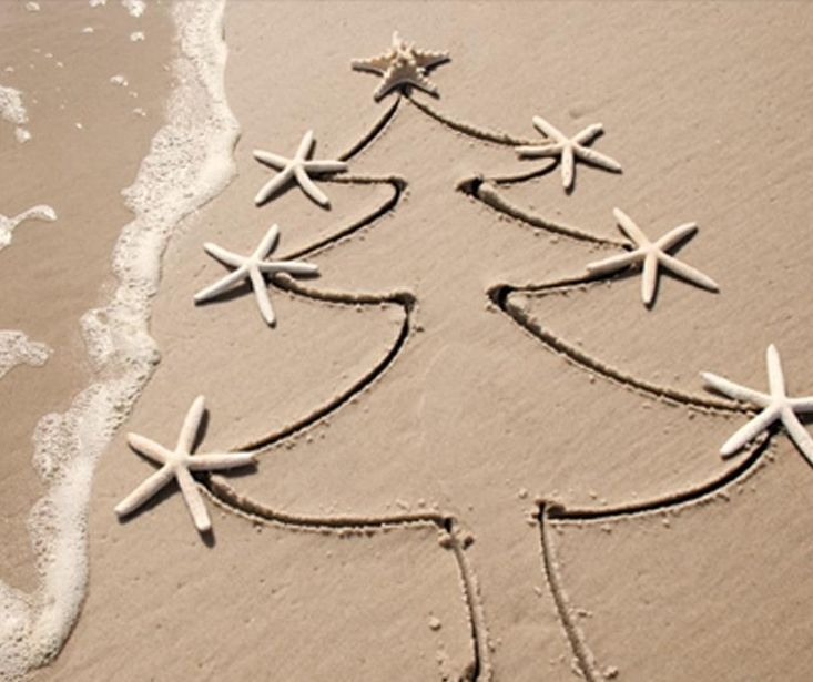 Christmas tree on the beach! Happy Christmas from everyone in Newquay, Cornwall #LoveNewquay