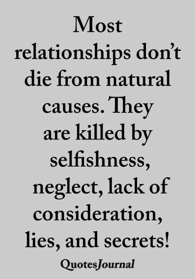 causes of broken relationship