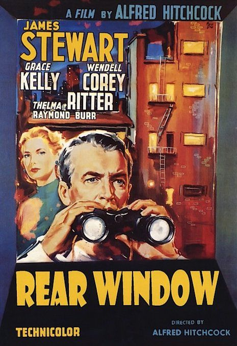 Rear Window (My very favorite Hitchcock movie; nice background article with photos in this article)