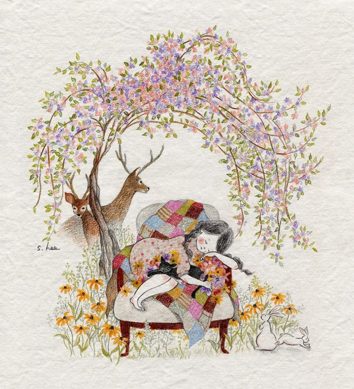 和你一起在这个世上,无论何处都会充满美丽与乐趣 ~ 来自插画师초록담쟁이作品。