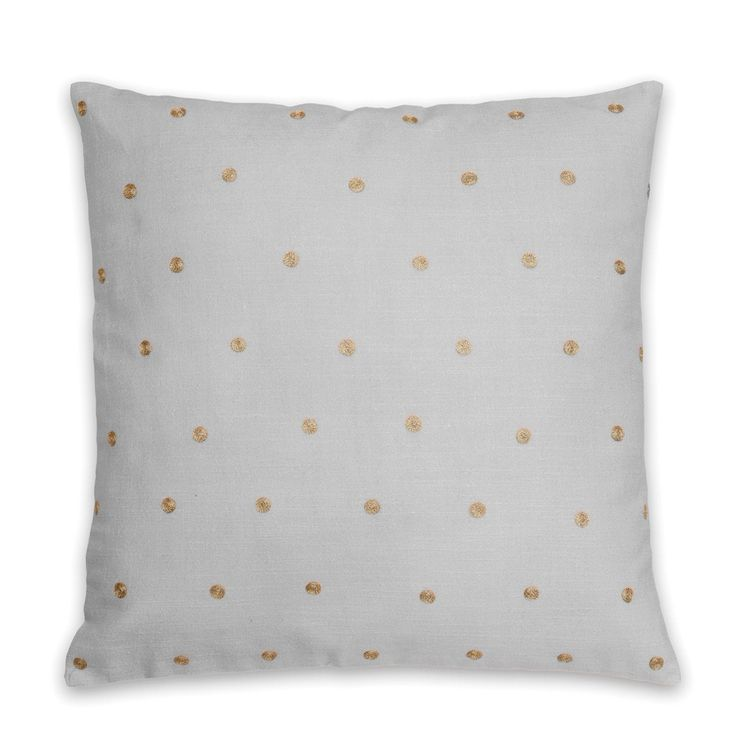 Grey Dotty Cushion