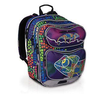 CHI 602 D - plecak z fantastycznymi kolorami i kameleonem