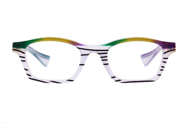"""occhiale in acetato di cellulosa, collezione """"lungoleviedelcaffé"""", Piero Massaro designer"""