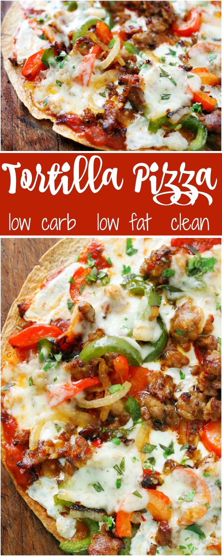 Eating Pizza CAN be healthy....it is all about alternative choices.  For instance, this pizza is made on a crispy tortilla - low carb, low cal!  And, all the ingredients are fresh and flavorful!  Done in 15 mins.