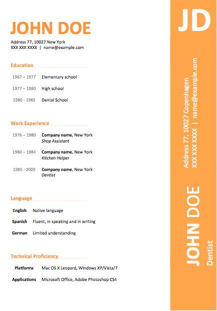 25 best ideas about Free resume templates word – Free Microsoft Resume Template