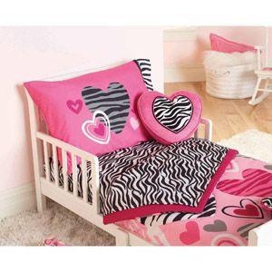 Garanimals Zebra Hearts  Piece Toddler Bedding Set