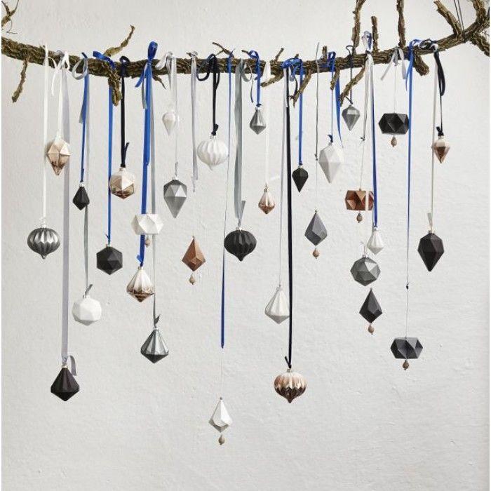 Daar hangen er bij mij nooit genoeg, kerstballen kunnen ook zeker aan een mooie tak gehangen worden,zonder kerstboom