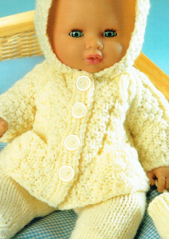 PDF Baby & Doll Clothes Knitting Pattern Pram by TheAtticofKitsch