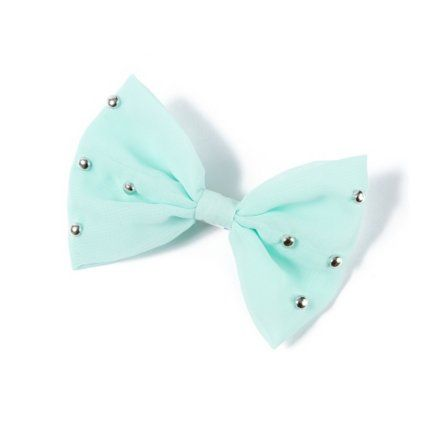 #Bows       Studded Bow Hair Clip. This is the second one I got from Claire's. I also got a white one with polka dots from Love Culture, but I can't find a picture of it!