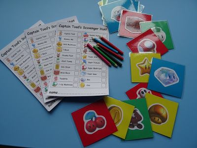 Super Mario Scavenger hunt - with downloadable PDF's! Captain Toads Treasure Tracker themed.