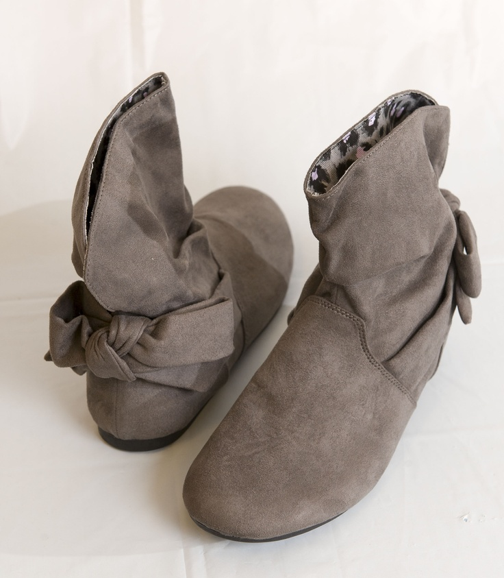 CHEEKY: Grey suede booties, $32.95 at TheChildrensPlace.com. Enter to win a $ 500 shopping spree with @TheProvince and Brentwood Town Centre: http://theprov.in/pinandwin #backtoschool