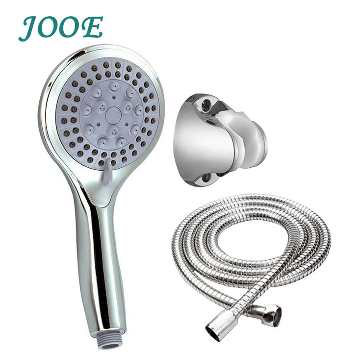 JOOE Bath shower head sets handhled water saving high pressure abs chrome shower head with hose and holder douche