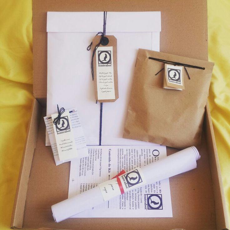 Kit de encadernação artesanal para principiantes. Vendas www.elo.com/lontrae