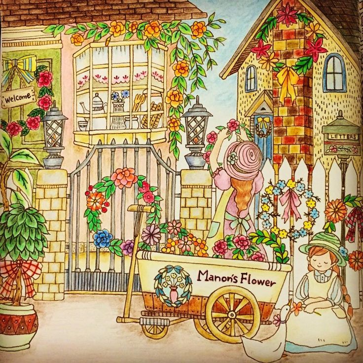 422 Best Romantic Country Coloring Pages Images On