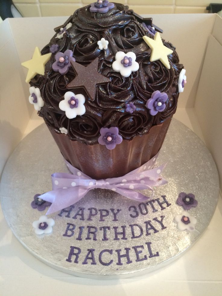 Triple chocolate giant cupcake!